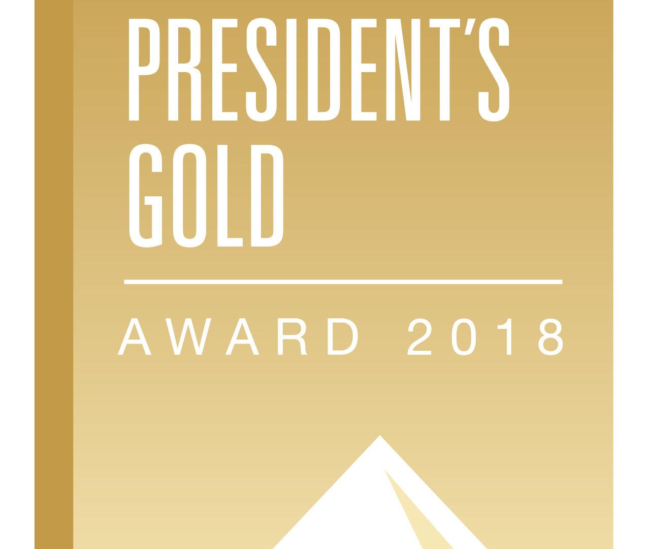 President's Gold Award 2018