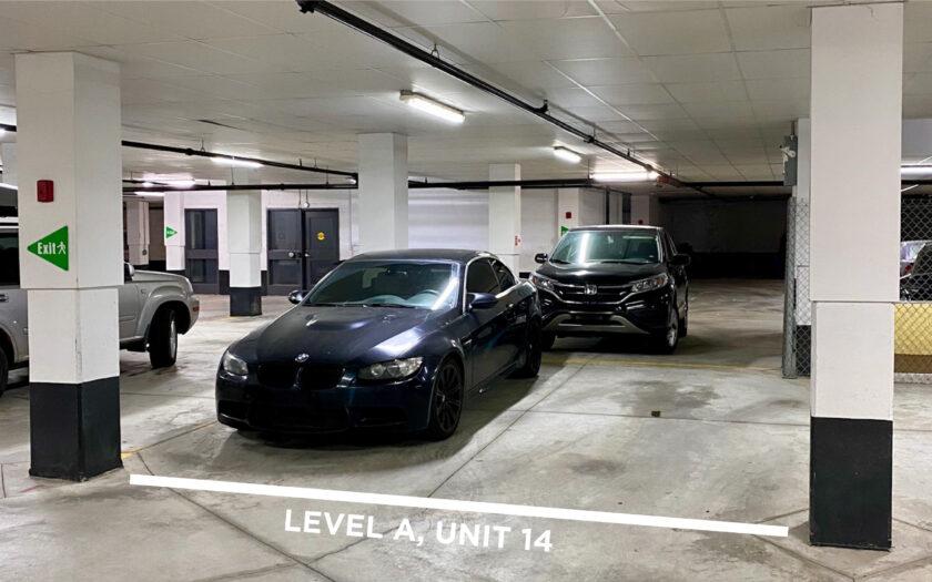 Level A, Unit 14 - Double Width Parking Spot
