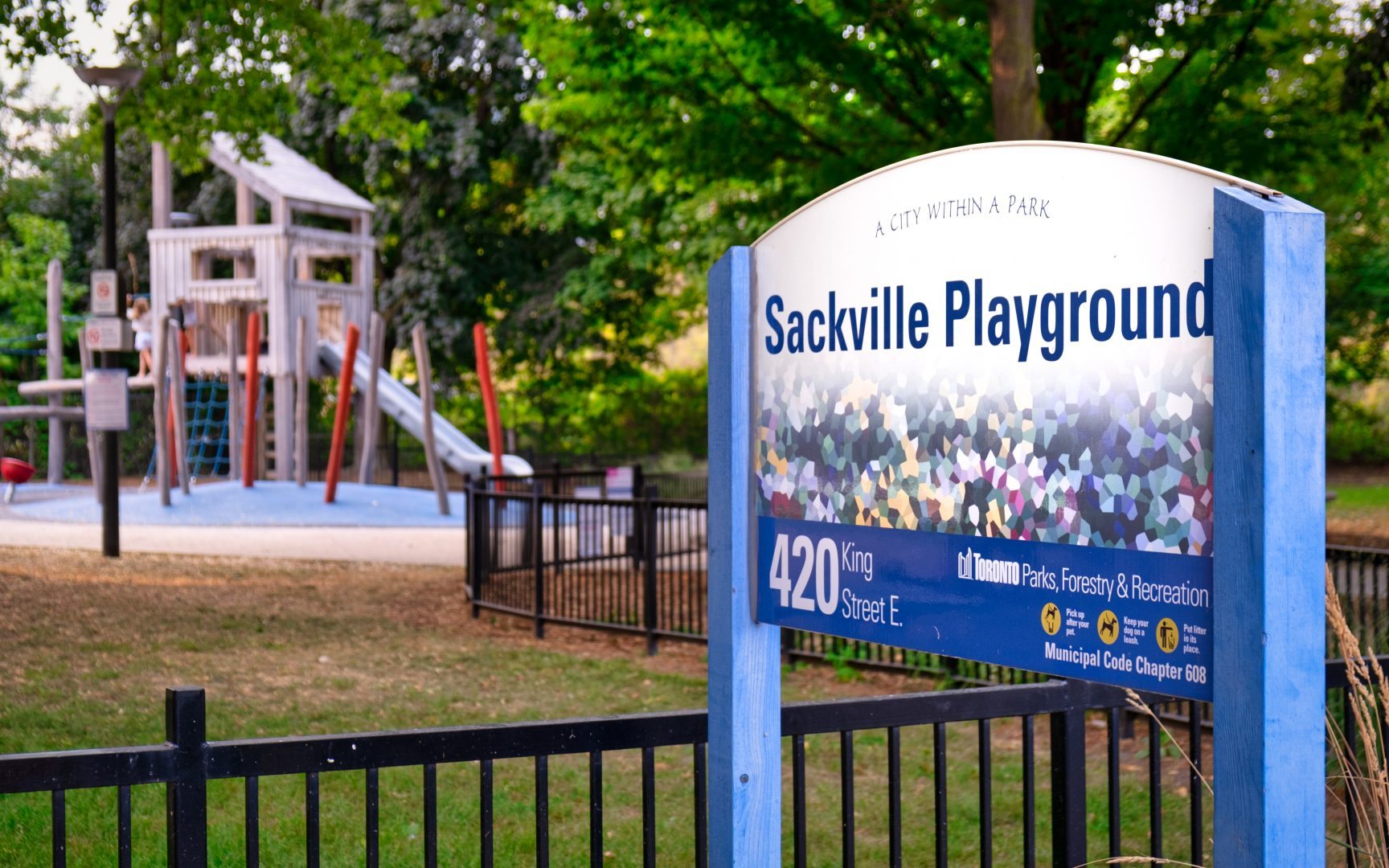 Sackville Playground on King St E (c) Photo by SHANE Maps exclusively for SHANE Maps